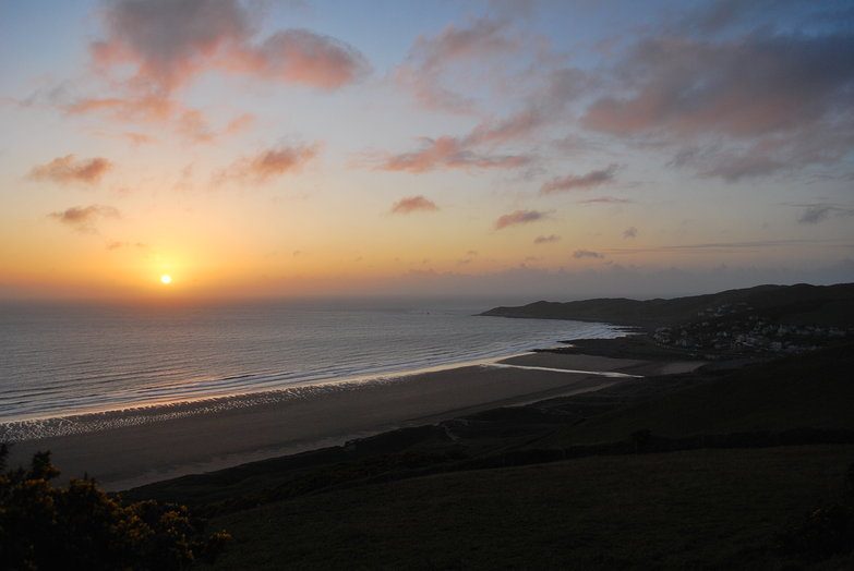 Sunset over Woolacombe