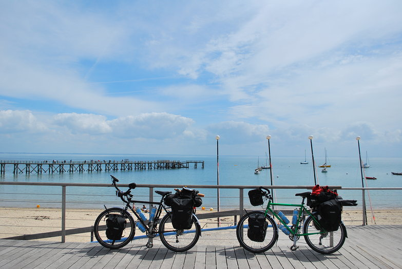 Our Bikes at the Beach