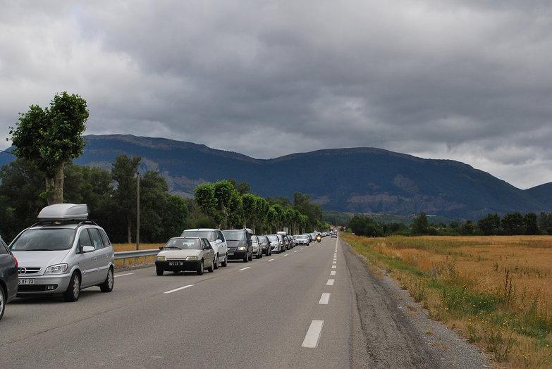 Traffic Jam to the Riviera