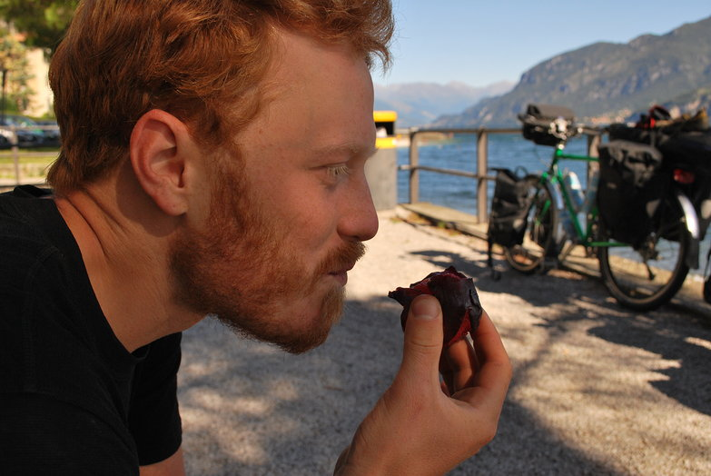 Tyler Eating a Plum