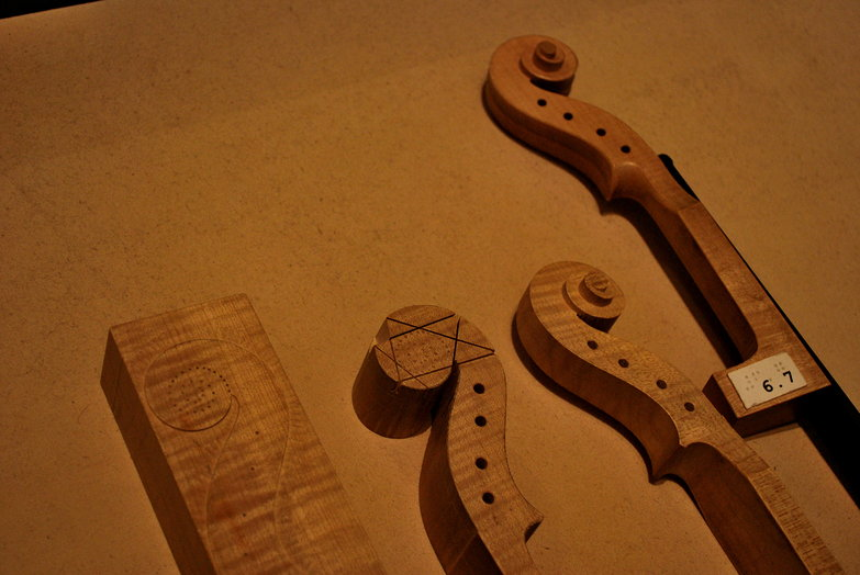 Violin Headstock Construction