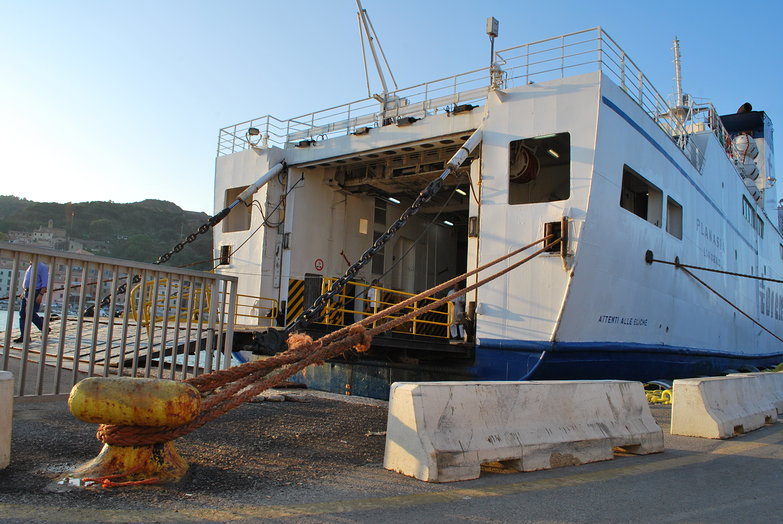 Elba Ferry Docked