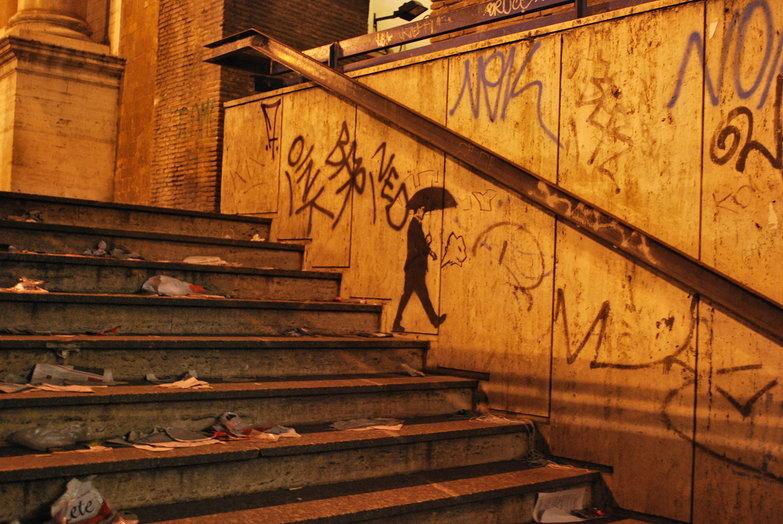 Rome Subway Stairs