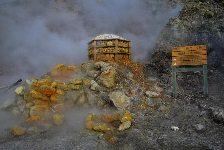 Solfatara Volcano Fumarole