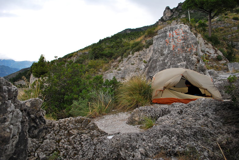 Windy Amalfi Coast Free Camp