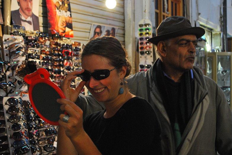 Tara & Sunglasses Seller