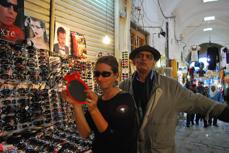 Tara & Sunglasses Seller