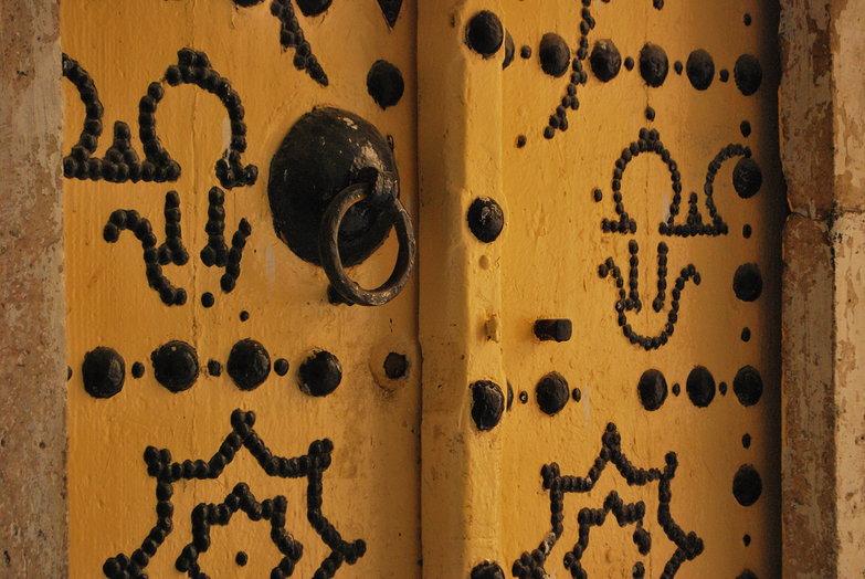 Yellow Door Knocker