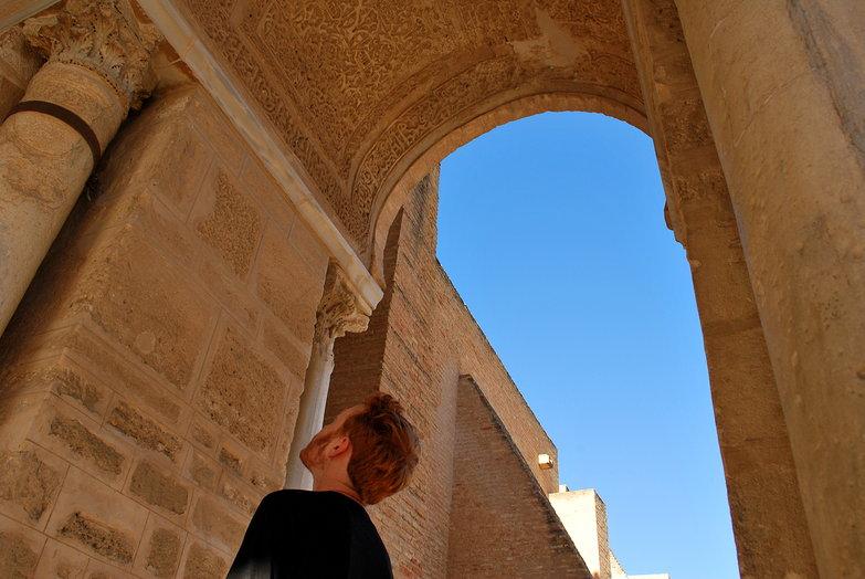 Tyler Admiring Arch