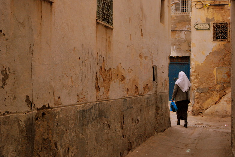 Medina Woman Walking