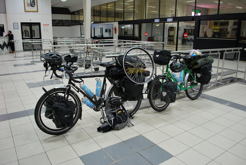 Our Bikes in the Gare Maritime
