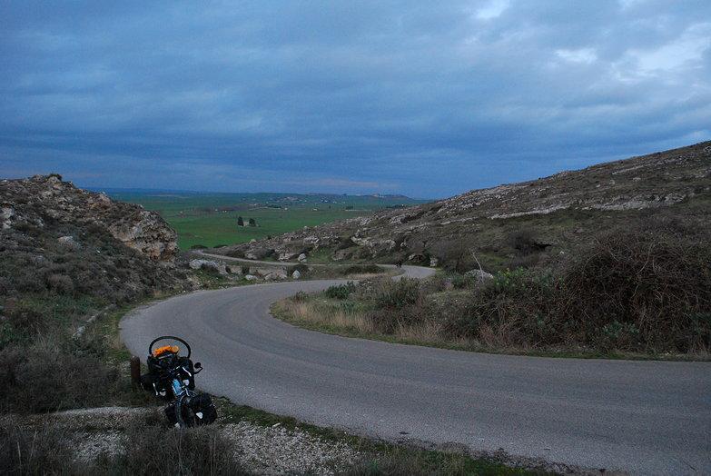 Outside Matera