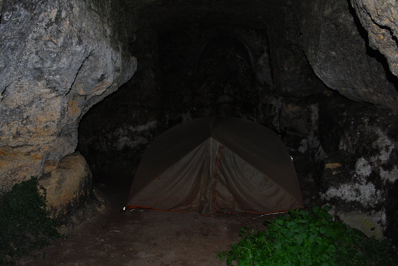 Camping in a Cave