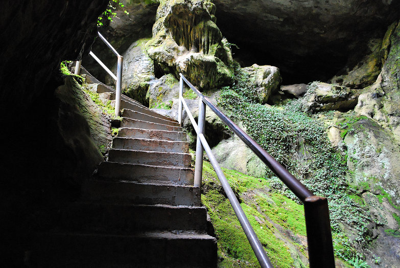 Dikteon Andron Cave Staircase