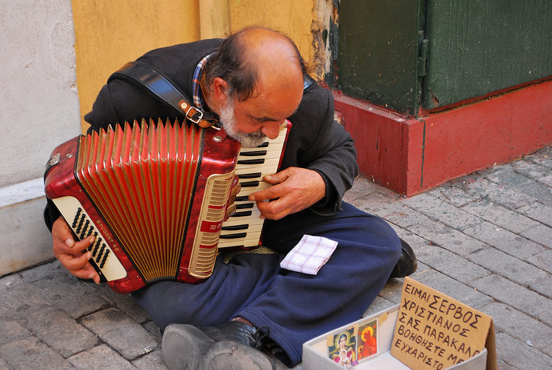 Athens Accordion Player