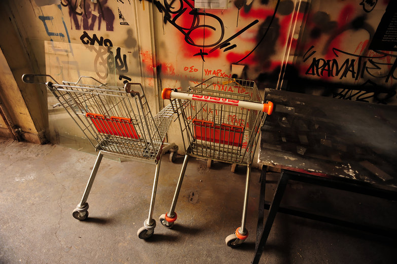 Grocery Carts & Graffiti