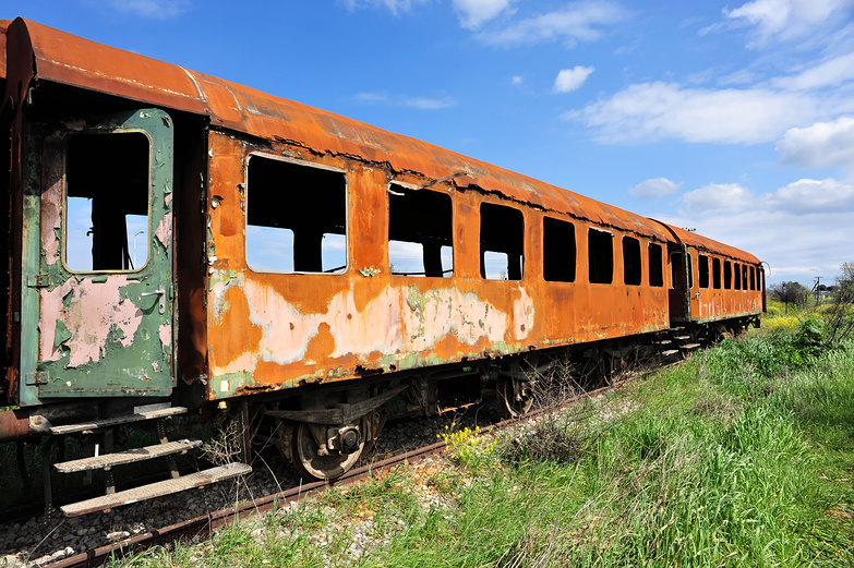 Burnt Out Train