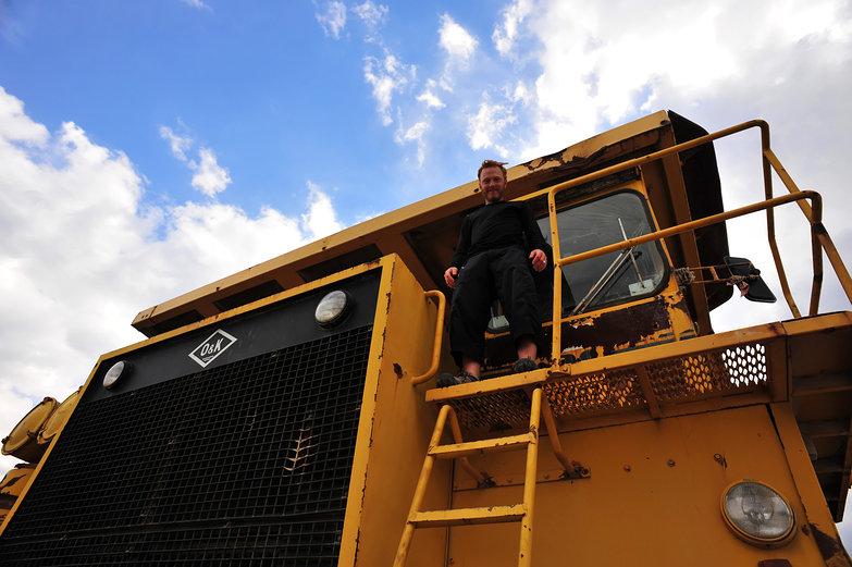 Tyler on Gigantic Dump Truck