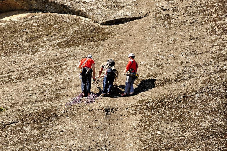 Meteora Rock Climbers