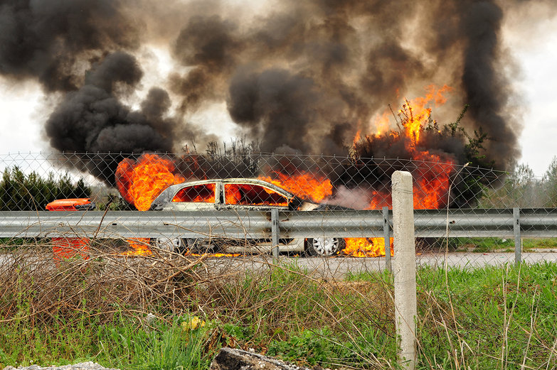 Highway Car Fire