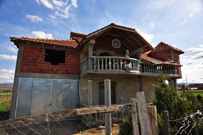 Unfinished Serbian Brick House