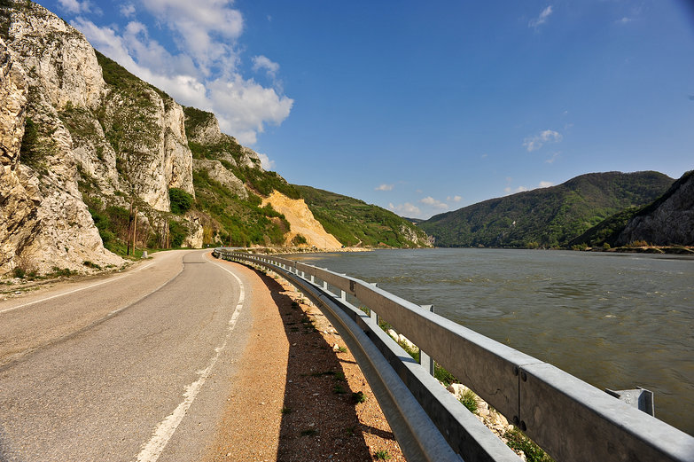 Danube Highway in Romania
