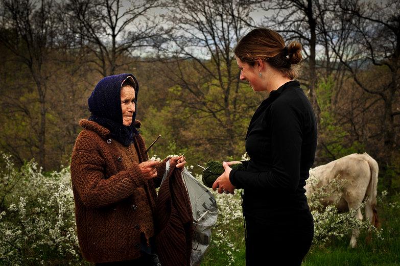 Tara & Romanian Knitter