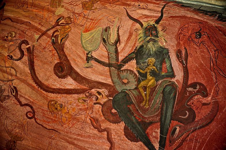 Tismana Monastery Mural