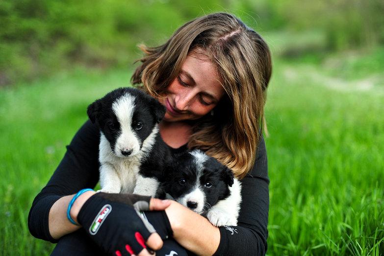 Tara With Abandoned Puppies