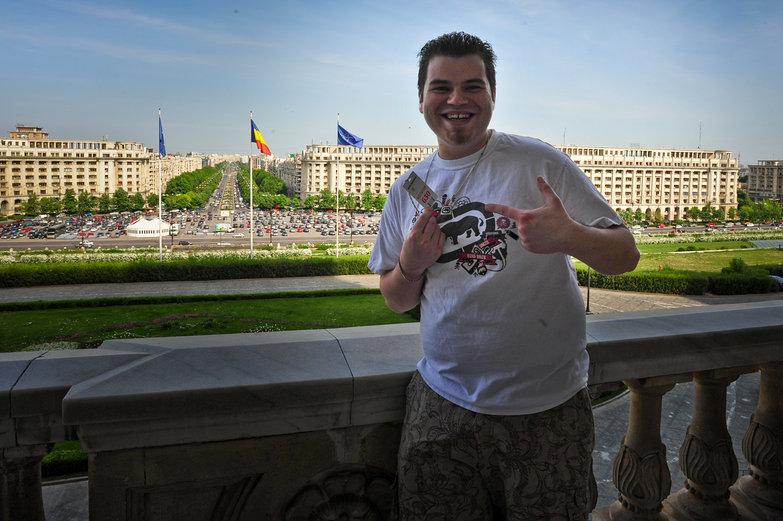 Robert at Palace of Parliament