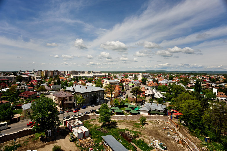 View of Targoviste from Vlad's Tower