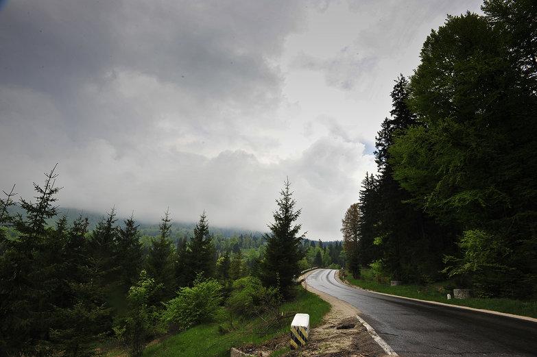 Romanian Mountain Road