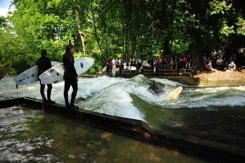 River Surfing in Munich