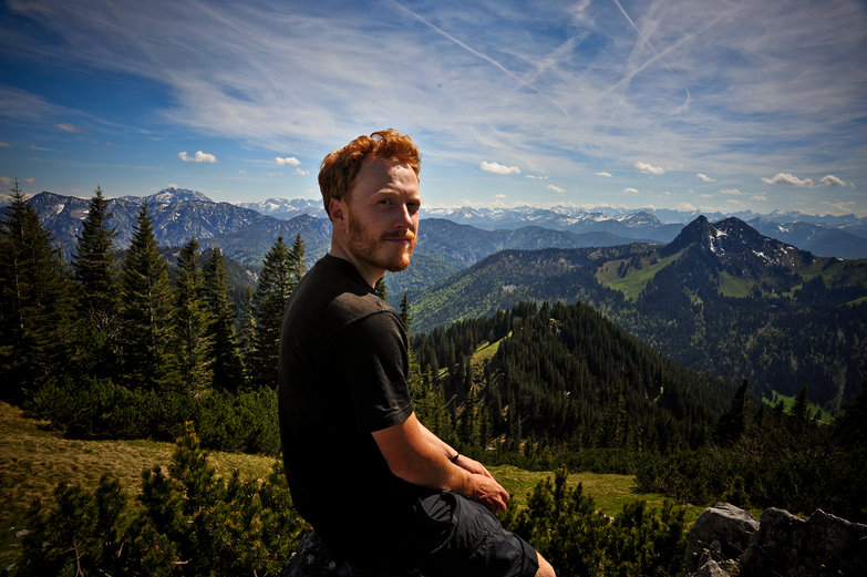 Tyler in the German Mountains