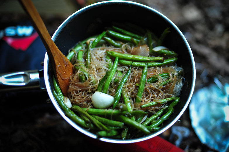 Asian Noodles & Green Beans