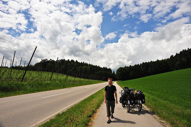 Tyler on German Bike Path