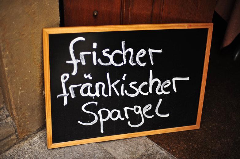 frischer frankischer Spargel
