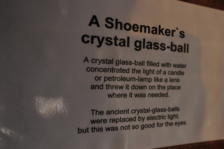A Shoemaker's Crystal Glass-Ball