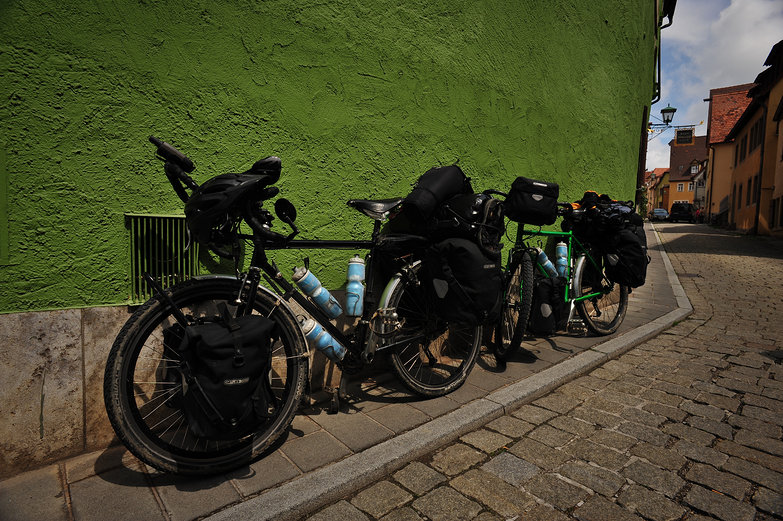 Our Bikes in Rothenburg