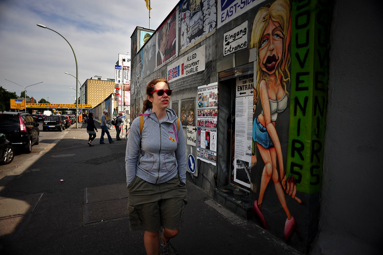 Nadine at Berlin's East Side Gallery