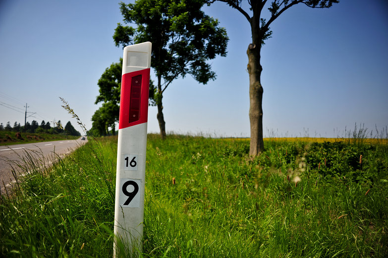 Polish Road Marker