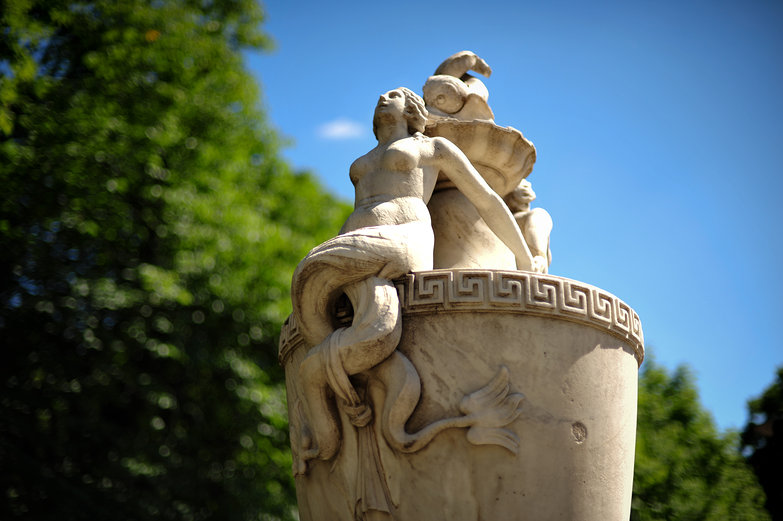 Lazienki Park Statue
