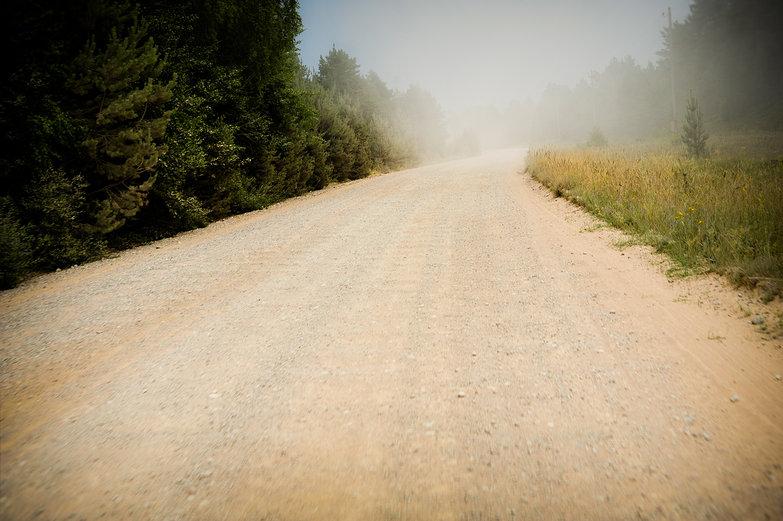 Latvian Dusty Gravel Road