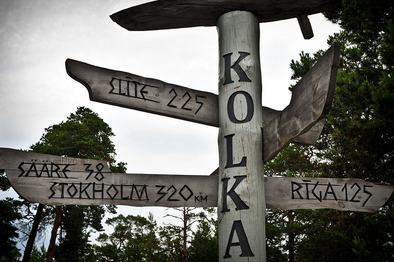 Kolka Signpost