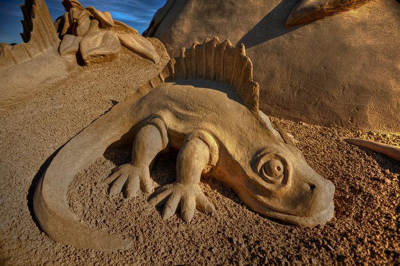 Dinosaur Sand Sculpture (HDR)