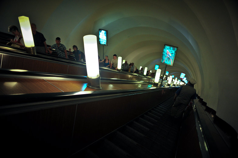 St. Petersburg Metro Escalator
