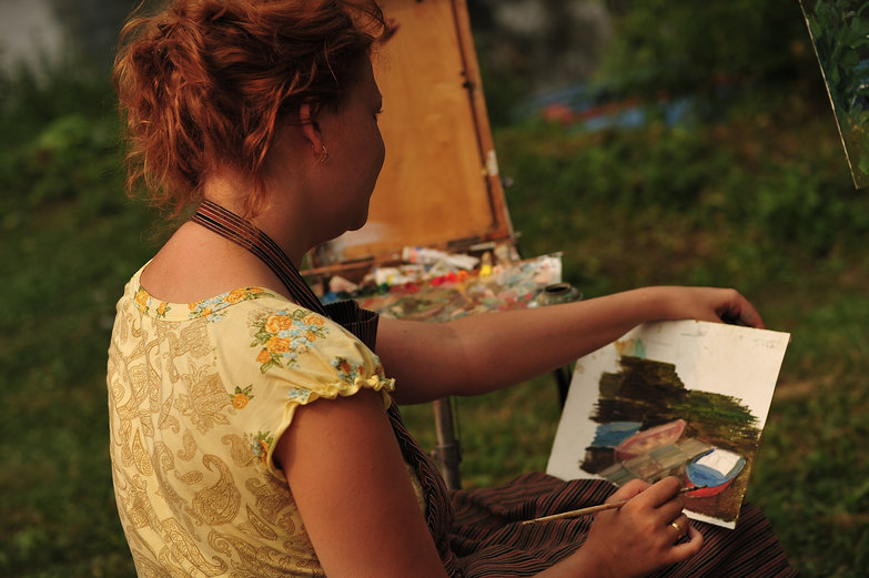 Riverside Painter in Pereslavl-Zalessky