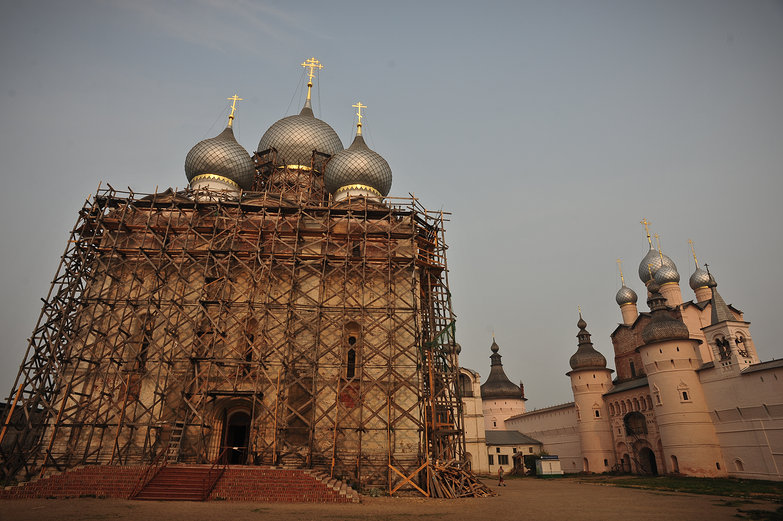 Rostov Cathedral Construction