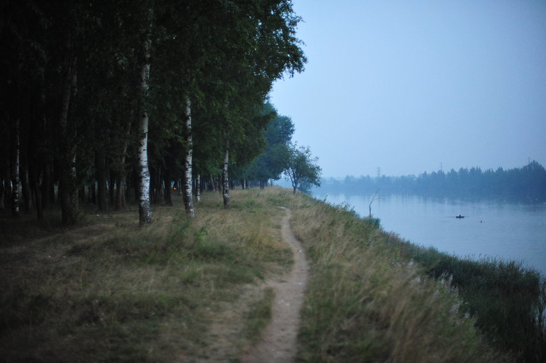 Along the Volga at Dusk