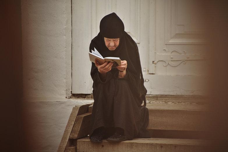Russian Nun Reading